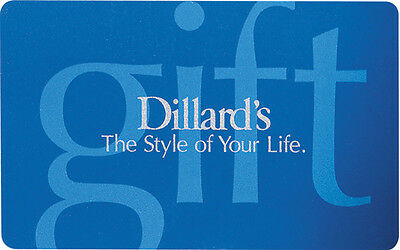 $50 Dillard's Physical Gift Card - Standard 1st Class Mail Delivery