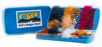 NEW CLIFF BUGGER BARN Streamer Saltwater Freshwater Fly Box FlyFishing Box Best