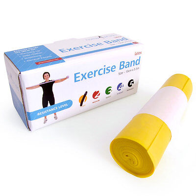 66fit Resistive Exercise Therapy Bands 5.5m  Latex Physio Rehabilitation Stretch