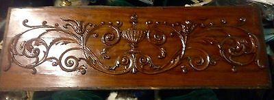 Fantastic Fancy Victorian All Wood Panel For Repurpose Salvage