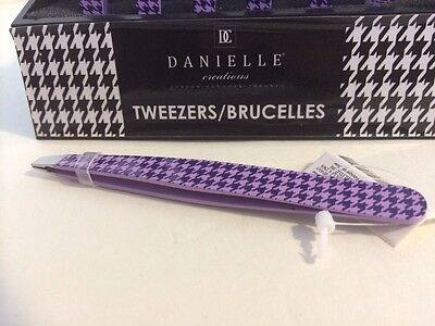 Danielle Creations Tweezers Houndstooth Purple