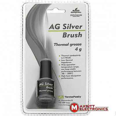 Brush Type Thermal grease Paste  Compound AG SILVER 4G