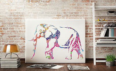 Abstract oil painting Watercolor paintin Animal elephant art prints on canvas