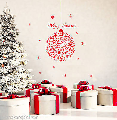 Xmas Special Large Ball Art Vinyl Wall Sticker DIY Home Wall Decal- High Quality