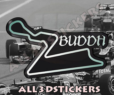 """3D Sticker Resin Domed Buddh Circuit  13x7.5 cm (5.12x2.95 """") Adhesive Decal"""