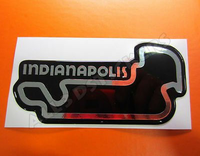 """3D Sticker Resin Domed Indianapolis Circuit  13x6.5 cm (5.12x2.56 """") Adhesive"""