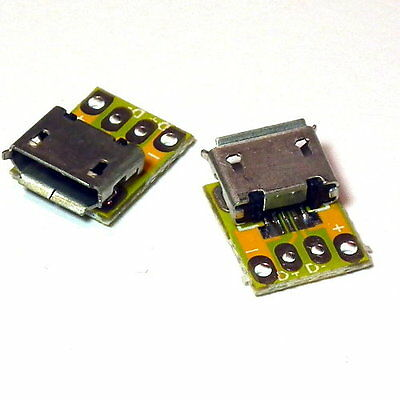 5pcs MICRO-B USB Female Port Connector Breakout Board Socket Power Arduino - UK
