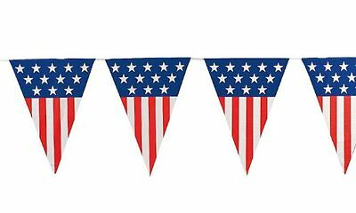 Large 24' Patriotic Red White Blue Flag Pennant Banner Indoor Outdoor Decor