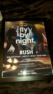Rush R40 Live Newark Prudential Rare Ltd  Edition Concert Promo Poster Framed!