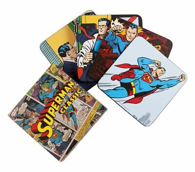 Superman Coffee Mug Cup Coasters Set Of 4 New With Presentation Case Gift