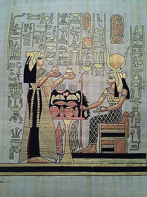 Hand Painted Egyptian Art On Papyrus, Number 23 New Ea