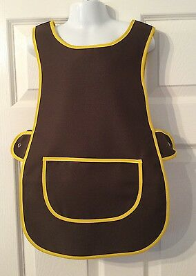 Wholesale Job Lot 10 Brand New Brown Kids Tabards Aprons Yellow Clothes Craft