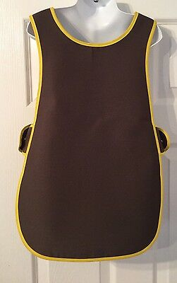 Brand New Choose Size Childrens Kids Tabard Apron Kids Brown Cooking Arts Craft