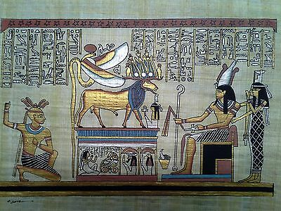 Hand Painted Egyptian Art On Papyrus, Number 36 New Ea