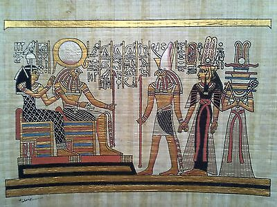 Hand Painted Egyptian Art On Papyrus, Number 41 New Ea