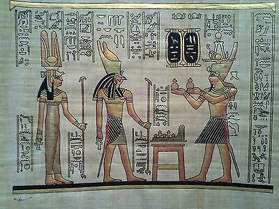 Hand Painted Egyptian Art On Papyrus, Number 51 New Ea