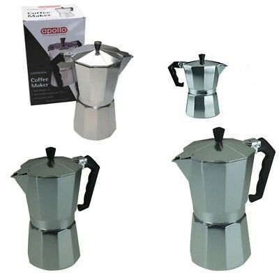 Traditional Style Coffee Maker, Machine, Expresso Cafetiere - 3/6/9 cups