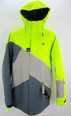 Dc Wishbone Insulated Snowboard Jacket - Color: Lime Shadow - Size: Xl
