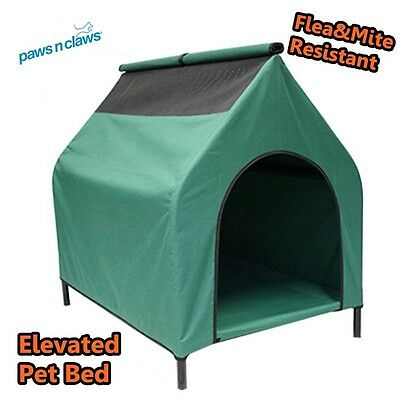90CM Large Elevated Flea Mite Resistant Dog Pet Bed Kennel Outdoor House