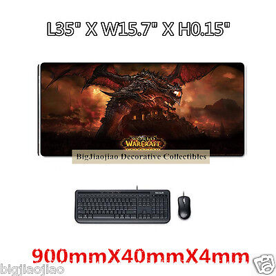 Game World of Warcraft  Gaming Large Mouse Pad