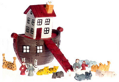Dollhouse Town Square Miniatures 25pc Ark with Animals Set  #T8001