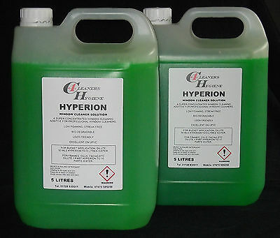 10L Water Fed Pole System Window Cleaning Liquid Additive Solution Concentrate