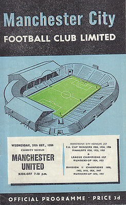 1956 FA Charity Shield - Manchester City v Manchester United (with Token)