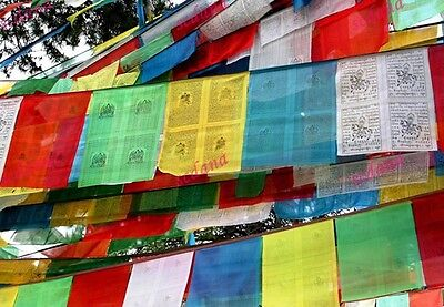 Tibetan Buddhist Prayer Flags Large Size 2 Roll Total 566 Inches / 14.4 meters