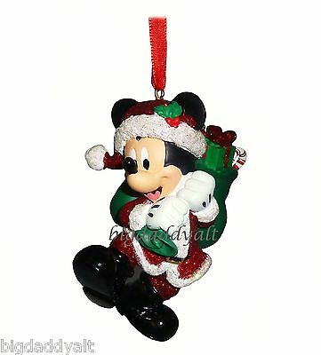 NEW Disney Parks Santa Mickey Mouse Duffy Toy Bag Christmas Holiday Ornament