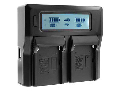 Dual LCD Display Battery Charger for Sony NP-FM500H Alpha A850 A900 A57 A65 A77