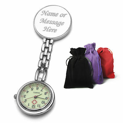 Personalised Engraved Nurses Fob Pocket Watch Hospital Medical Graduation Gift