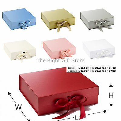 Large plain Keepsake Boxes in choice of colours gift box 30cmx30cmx9cm new baby