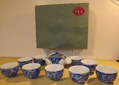 Japanese Arita ware tea set / beautiful coloring/ teapot 10 cups