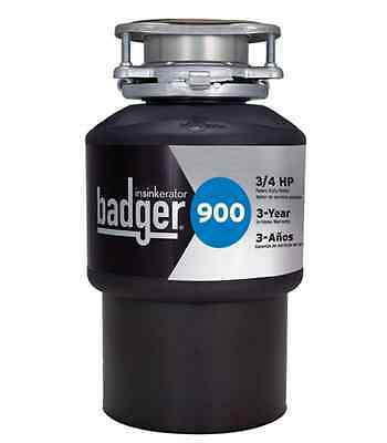 Badger 900, 3/4 HP Garbage Disposal Waste Sink Food Continuous Feed Disposer