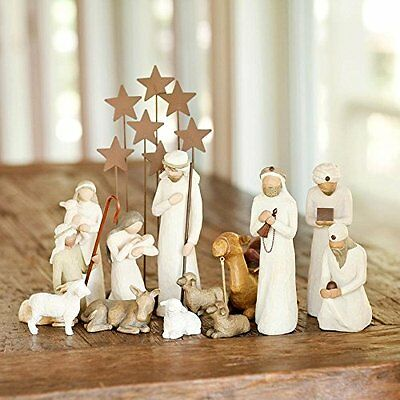 14 Pc. Demdaco Willow Tree Nativity Package - FREE SHIPPING