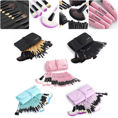 Vander Brushes 32pcs Soft Eyebrow Shadow Makeup Brush Set Kit+Pouch Bag Fashion