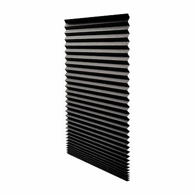"""Quick Fix Blackout Pleated Paper Shade Black, 36"""" x 72"""", 6 Pack by Redi ShadeNEW"""