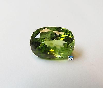 1x Peridot - Oval facettiert 10,20ct. 15x11x8,8mm (2450Z)