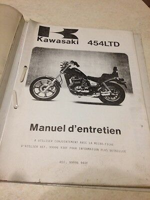 Kawasaki 454 LTD EN450 A1 Vulcan supplément manuel atelier workshop manual FR