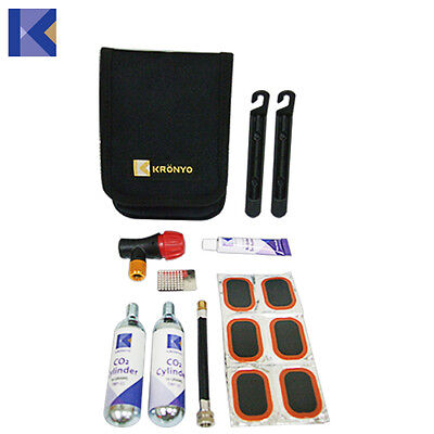 Bike Tyre Tube Bicycle Puncture Repair Tool EMERGENCY Kit with CO2 pump and Gas