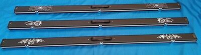 """Rosetta 60"""" Halo Style Aluminium Snooker Pool 1 Piece Cue Case, Can Take 2 Cues"""