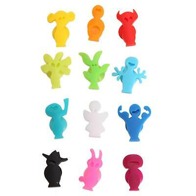 1Set Mixed Shaped Decorative Drinking Glass ID Markers Suction Cup Wine Set LJ