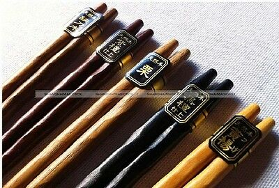 5 Pairs Set Japanese Natural Wood Color Wooden Chopsticks Hair Sticks