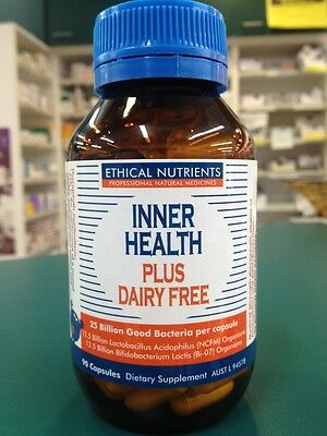 GENUINE Ethical Nutrients Inner Health Plus Dairy Free 90 Capsules
