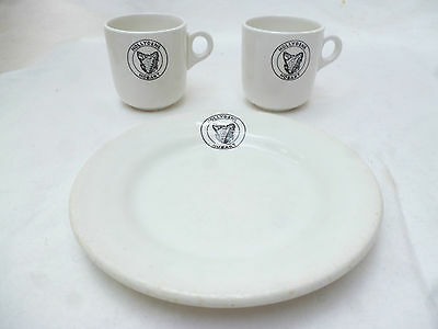 ANTIQUE HOTEL CHINA CUPS & PLATE HOLLYDENE GUEST HOUSE HOBART TASMANIA 1930s
