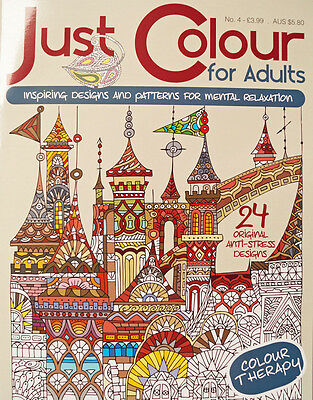 Just Colour For Adults Issue 4 - Adult Colouring Book - Colouring for Adults NEW