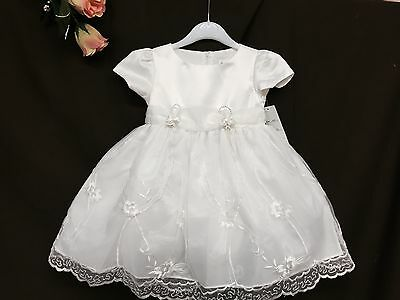 LIL Baby Flower Girl White/Ivory Naming Christening Wedding Paegant Dress 0-5 Yr