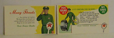 1956 & 1957 Texaco Gas Station Service Attendant Reminder Advertising Post Cards