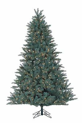 NEW Santa's Own 7.5' Glacier Pine Clear Lights Artificial Christmas Tree