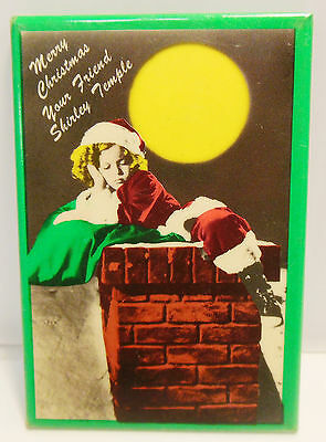 "Shirley Temple Pocket Mirror 2"" X 3"" ""Merry Christmas Your Friend Shirley..."""